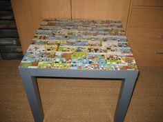 Table pour enfant bande déssinée -  - Votre meuble IKEA customisé et relooké Frame, Home Decor, Ikea Furniture, Comics, Projects, Bricolage, Picture Frame, Decoration Home, Room Decor