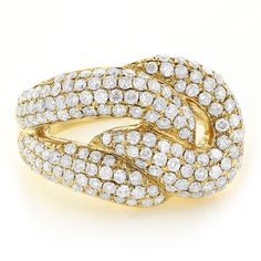 2.30 Karat Diamantring 585er Gelbgold Pavée-Style