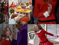 Inspired by character Veruca Salt played by Julie Dawn Cole in the 1971 musical adaptation of Willy Wonka and the Chocolate Factory. Description from pinterest.com. I searched for this on bing.com/images