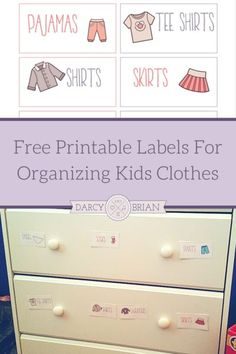 Need help keeping the kids clothes organized? Grab our Free Printable Labels For Organizing Kids Clothes! These are perfect for helping your children to assist with laundry chores by learning to put away their own clothes. They also help mornings go smoother when your kids are picking out their own clothes and getting ready for school.