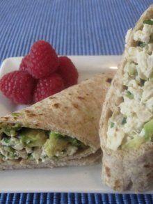 Chicken Salad Avocado Wrap | Weelicious