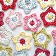 crochet star patterns free | Easy crochet star, free pattern by Ruby & Custard | Crochet and color