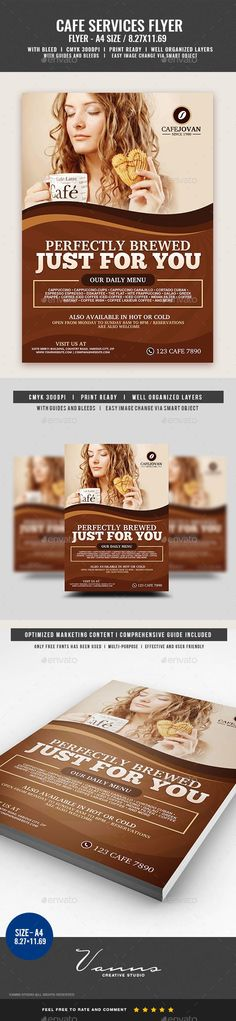 a4, ad, advertisement, aroma, bar, brewed, brown, cafe, caffeine, cappuccino, classic, coffee, coffee bar, coffee services, coffee shop, Eatery, flyer, food, handout, restaurant, tasty Coffee Restaurant Flyer   Boost your company's sales and attract new customers! This flyer has been developed to boost your Ultimate Marketing Opportunity and brand/product awareness for large and small businesses, with well-studied and effective marketing content.  Why this Flyer is Multi-Purpose?…