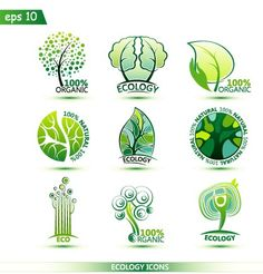 Creative ecology icons design graphic vector