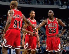 Jordan, Pippen and Rodman