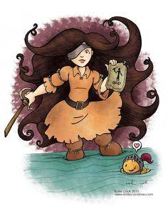 Cursed Pirate Girl fan art by Katie Cook!  www.katiecandraw.com