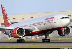 Air India Boeing 777-337/ER touching down at London-Heathrow