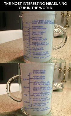 The most interesting measuring cup in the world.
