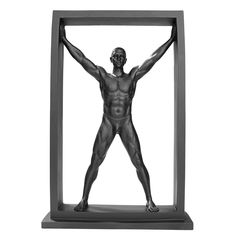 Design Toscano Boxed in Modern Male Nude Statue, Black *** See this awesome image  : Home Decor Sculptures