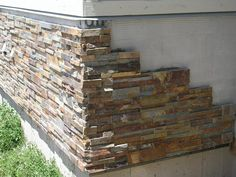 Add stone veneer to foundation - curb appeal