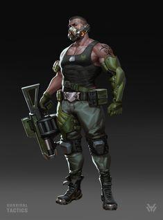 ArtStation - Commander design for the game—Survival tactics, xu wang