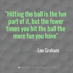 Golf is a strange game! …
