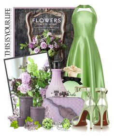 """""""Mint and Lavender"""" by queenrachietemplateaddict ❤ liked on Polyvore featuring Grayson, Rosie Assoulin, Dolce&Gabbana, Anna Sui, Bottega Veneta, Schutz, Bling Jewelry, Clutch, Flowers and mint"""