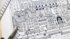 La petite histoire : Je dessine de manière minutieuse et de manière très détaillé ma propre vision de la ville. Des villes que jai pu découvrir au cour de mes voyages avec mes coups de cœur perso et qui permettront au spectateur de voyager en passant par Barcelone, Berlin, porto,