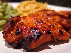 grilled buffalo chicken. No heating the oven or oil for frying on hot days!