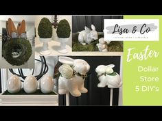 Diy Videos, Craft Videos, Diy Easter Decorations, Table Decorations, Easy Crafts, Diy And Crafts, Co Design, Diy On A Budget, Seasonal Decor