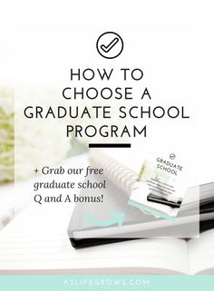 Are you trying to choose a graduate school program? If so, this post will give you the tips that you need to pick the right program for you!