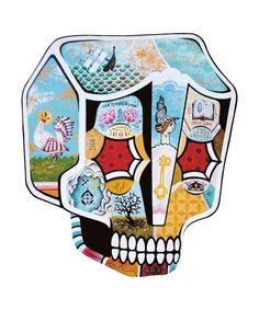By Brazilian Artist Stephan Doitschinoff (Calma) Lowbrow Art, Graphic Design Print, Memento Mori, Street Artists, Skull Art, Art Pictures, Illustrators, Cool Art, Graffiti