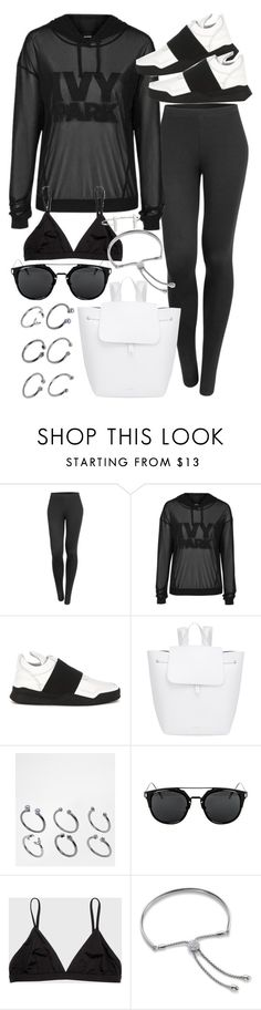 """Untitled #19785"" by florencia95 ❤ liked on Polyvore featuring LE3NO, Ivy Park, Filling Pieces, Mansur Gavriel, ASOS, Monica Vinader and French Connection"