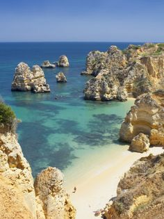 Lagos, Portugal. The most beautiful, peaceful beach with the clearest water I have ever been to and swam in. I love it :)