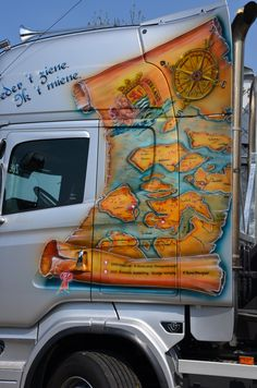 Customised Trucks, Show Trucks, Airbrush, Rigs, Murals, How To Look Better, Motorcycle, Graphics, Graphic Design