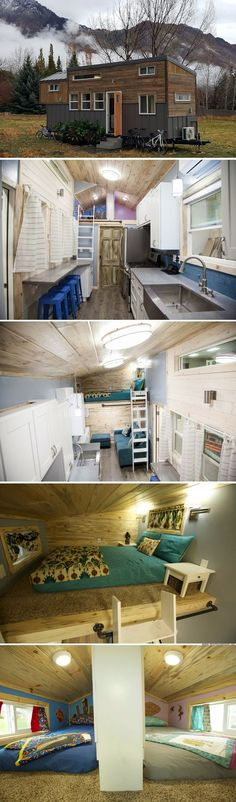 a 352 sq ft tiny house for a family of four!