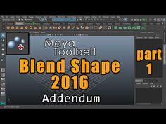 The Maya Toolbelt - Blend Shape Addendum - Part 1 - YouTube