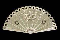 folding fan  Date: circa 1800  Period: early 19th Century  Dimension(s): length, guards, 13.5, cm width