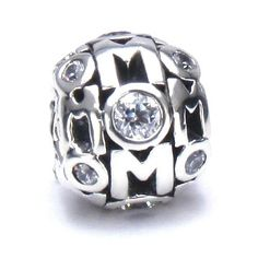 Moress MOM Clear Swarovski Gem Zirconia Solid 925 Sterling Silver European Charm Bead - Compatible Brand Bracelets : Authentic Pandora, Chamilia, Moress, Troll, Ohm, Zable, Biagi, Kay's Charmed Memories, Kohl's, Persona & more! Moress Bead Charms,http://www.amazon.com/dp/B00FB3YDZE/ref=cm_sw_r_pi_dp_C6Ctsb07SCFQ2JNS