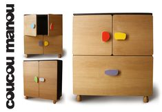 boulder storage units by coucou manou for kids room or baby nursery - #children #design #furniture #nowforkids