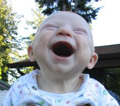So that's what it's like to be truly happy :)  #smiles #children #baby