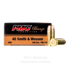 PMC 40 cal Ammo - 50 Rounds of 165 Grain FMJ-FN Ammunition  #PMC #PMCAmmo #40CalAmmo #40Cal #FMJ-FN