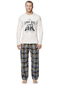 F&F Long Jersey Loungewear Set - Grey