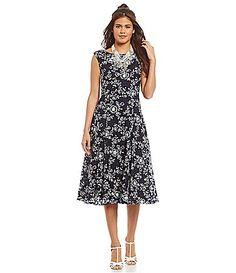 0a0ed3e84a4 Betsey Johnson Floral Print Midi Dress  Dillards Tie The Knots