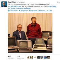 Fundadores da Microsoft, Paul Allen e Bill Gates recriam foto de 1981. #Microsoft #Photography