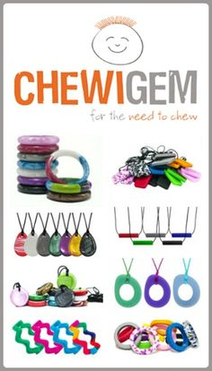 Chewigem Oral Sensory Jewelry ~ Giveaway open through 10/27/14