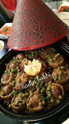 My Artichokes stuffed with peas Recetas Ramadan, Ramadan Recipes, Morrocan Food, Moroccan Kitchen, Plats Ramadan, Tunisian Food, Algerian Recipes, Indian Food Recipes, Ethnic Recipes