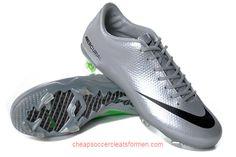 Nike Mercurial Vapor IX FG in Platinum Black Green b0a04f63840b0