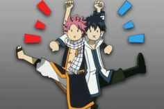 Natsu and Gray pretending to get along. Description from rancidalice.deviantart.com. I searched for this on bing.com/images