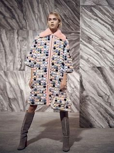 Fendi have released a separate lookbook to highlight their intricately designed and luxurious fur pieces, photographing model Line Brems with styling by Sabino Pantone.