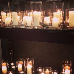 Carla and Rupert's winter wedding. #candles #weddingstyling #weddingplanner