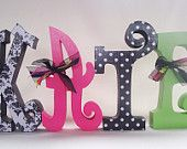 I think I'm gonna polka dot and paint the letters that are on my way like this. (: