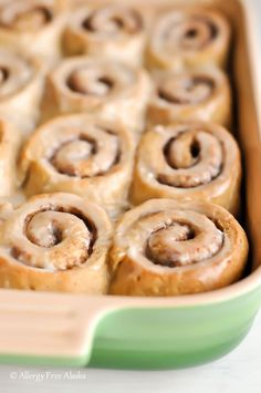 GlutenFree DairyFree Cinnamon Rolls Recipe- Breakfast for your guests staying for Thanksgiving or Christmas! Allergy Free Alaska