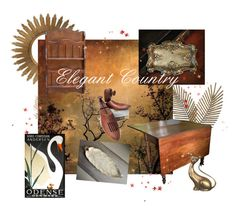 """""""Elegant Country"""" by plumsandhoneyvintage ❤ liked on Polyvore featuring interior, interiors, interior design, home, home decor, interior decorating, Artisan House, vintage and country"""