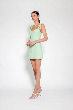 Imogen Linen Dress Pistachio – Lulu & Rose Shirred Dress, Rose Dress, Pistachio, Hue, Most Beautiful, Label, Women Wear, Feminine, Dresses For Work