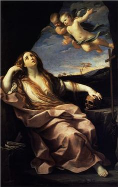 St. Mary Magdalene - Guido Reni.  1632.  Oil on canvas.  231 x 152 cm.  Chiswick House, London, UK.