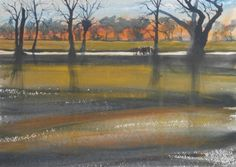 Another watercolour of Calderstones Park in Liverpool with warm evening light filtering through the trees. SOLD