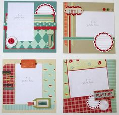 8x8 Layouts Scrapbook Journal Baby Sketches