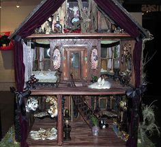 I have always wanted to do a spooky dollhouse. Maybe someday when my other crafts permit.