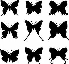 Силуэт бабочки для вырезания из бумаги: скачать и распечатать